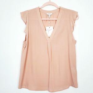 Joie Silk V neck Sleeveless  Pink